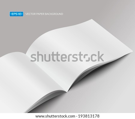 Vector blank magazine. Template for design  - stock vector