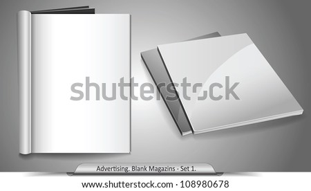 Vector blank magazines. Template for your design. Set 1 - stock vector