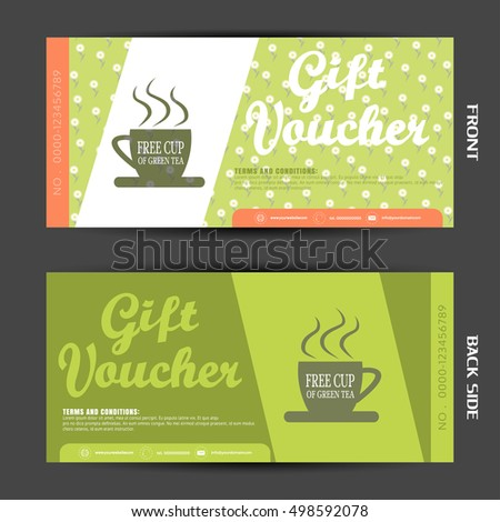 Vector Blank Gift Voucher On Gray Stock Vector