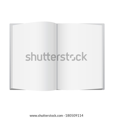Vector Blank Open Magazine - stock vector