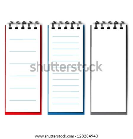 Vector blank open notebook - stock vector
