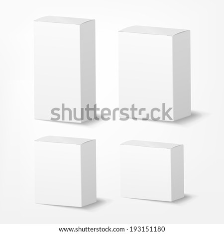 vector blank packing box on white background - stock vector