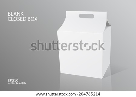 vector blank packing closed box on white background - stock vector
