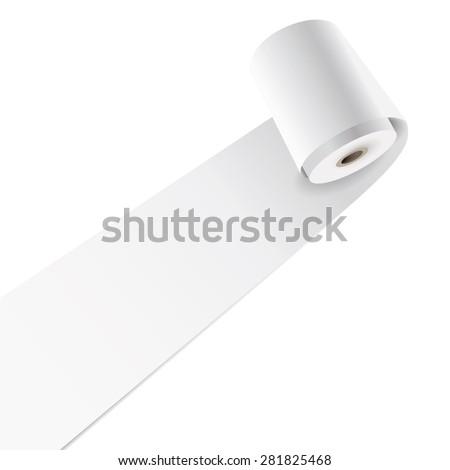 Vector blank paper roll. - stock vector
