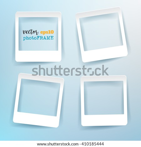 Vector Blank Photo Frames with empty space for your image. - stock vector