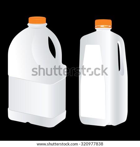 Vector Blank Plastic Gallon  - stock vector