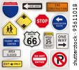 Vector. Blank road signs - stock