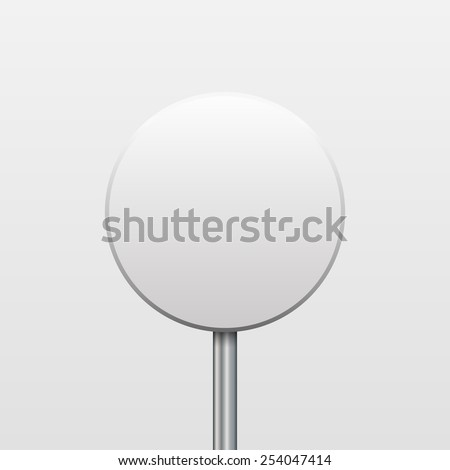 Vector blank round sign on a white background
