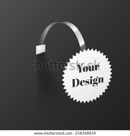 Vector Blank round Wobbler with Transparent Strip Isolated on a Black Background - stock vector