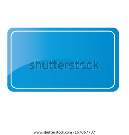 Vector Blank Sign Isolated With Space For Text
