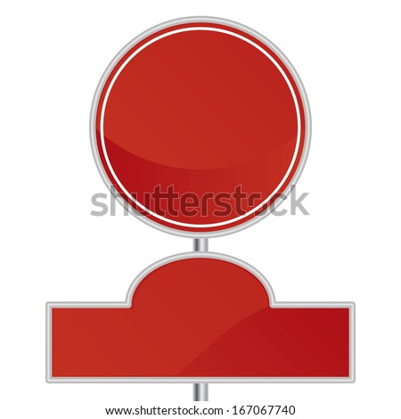 Vector Blank Signs Isolated With Space For Text - stock vector