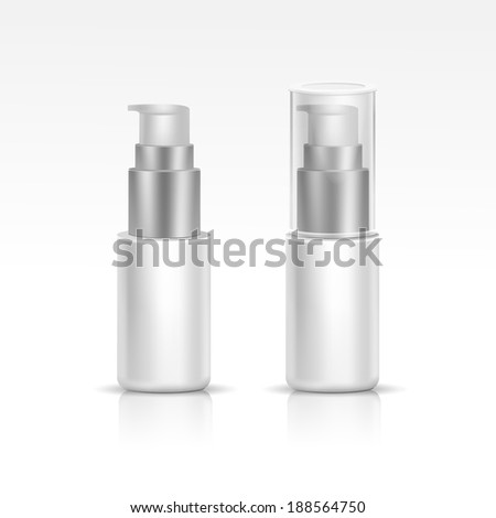 Vector Blank Spray Bottle - stock vector