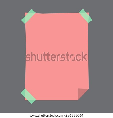 vector blank stick note on a black background - stock vector