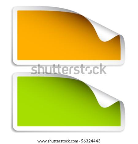 vector blank stickers - stock vector