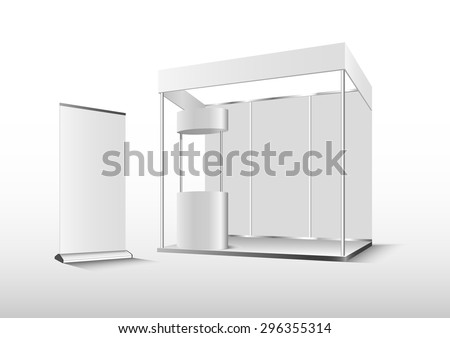 Vector Blank trade exhibition booth stand - stock vector