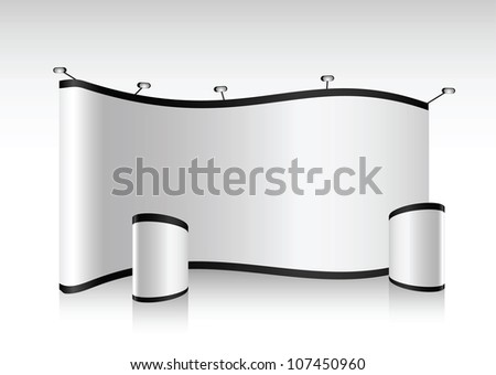 Vector blank trade show booth for designers and advertising - stock vector