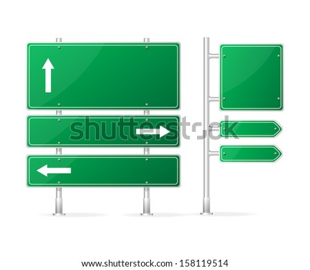 Vector Blank Traffic Sign isolated on white