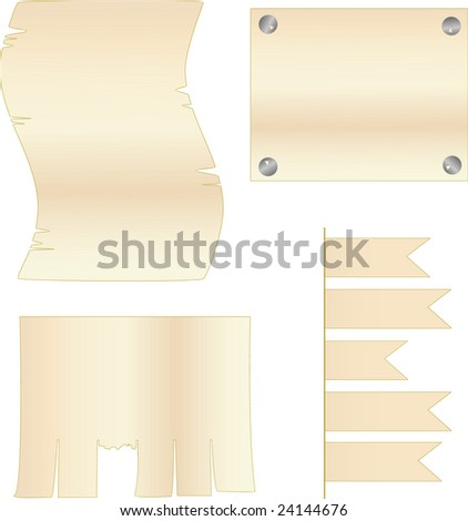 Vector blanks for inscriptions of light brown color