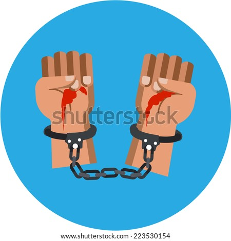 Vector Bloody Murderer Hands  - stock vector