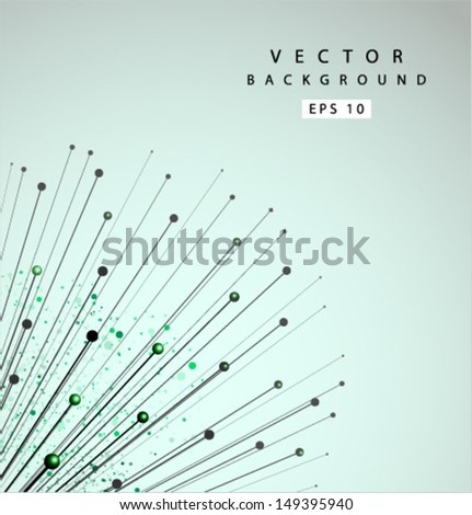 Vector blowball line background 01 - stock vector