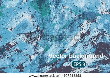 Vector blue abstract art background colorful pattern for texture, backdrop, design element, wallpaper,   illustration, decoration, banner, ornament, frame, print, image, decor, cute card, eps 8 - stock vector