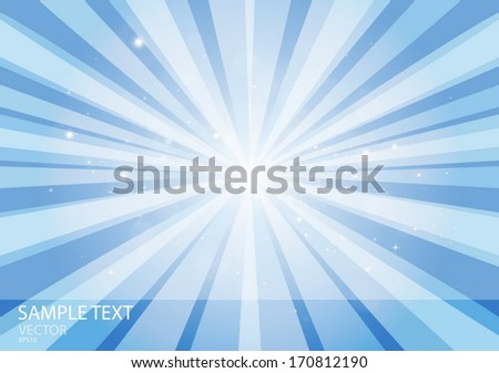 Vector  blue abstract burst of stars space - Flares in space template background design illustration  - stock vector
