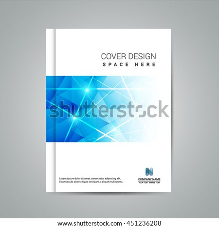 Brochure Design Template Vector Simple Geometric Stock Vector