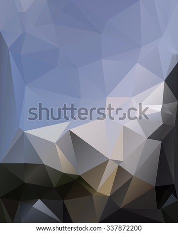 vector blue background of the polygons. Space for text top left. - stock vector