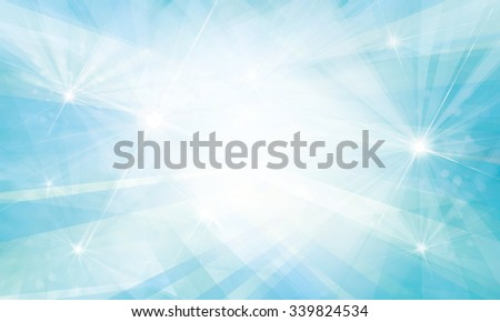 Vector blue background with rays and lights. - stock vector