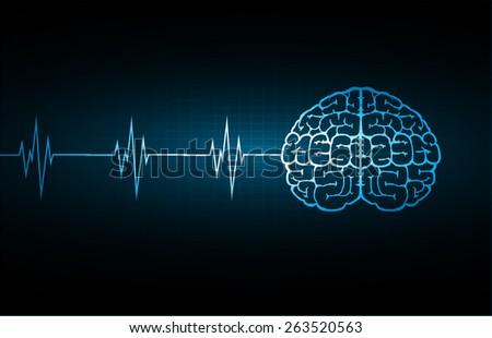 Vector blue brain processes technology creative stock vector vector blue brain processes technology creative idea concept wave ccuart Choice Image