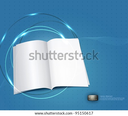 vector blue business background, with a copybook - stock vector