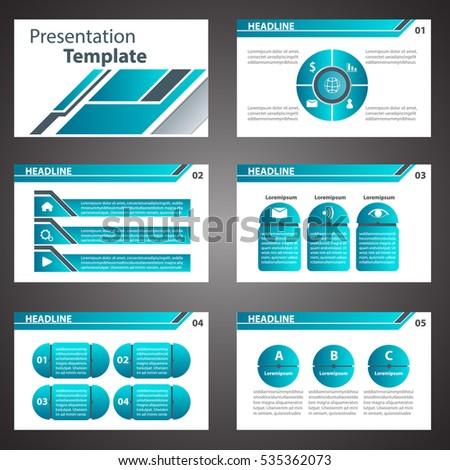 vector blue business blue presentation templateのベクター画像素材