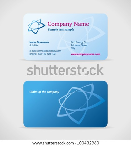 Vector blue business card front back stock vector 100432960 vector blue business card front and back side suitable for industry it colourmoves