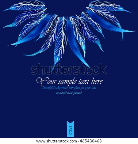 Vector blue feathers illustration