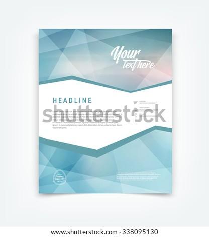 Vector blue flyer design template  - stock vector