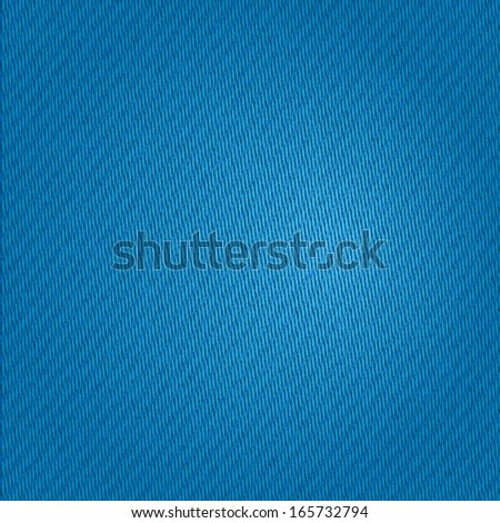 Vector Blue Jeans Texture Background. Clothing Material - stock vector