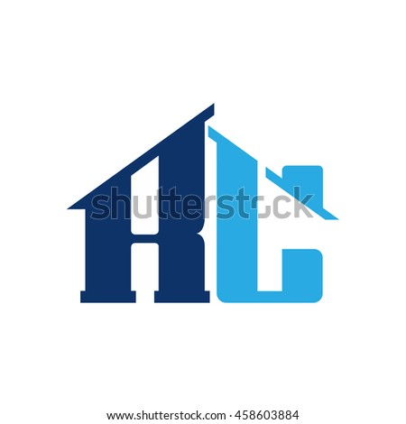 Vector Blue Letter R L C Realty