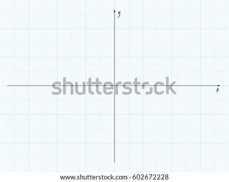 Vector Blue Plotting Graph Paper With Axis