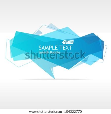 Vector blue speech templates for text - stock vector