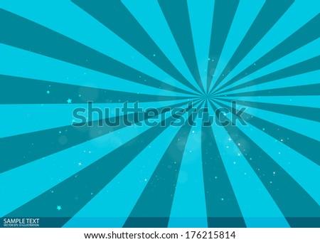 Vector blue star burst  background illustration - Vector background  sparks and glitters background illustration  - stock vector