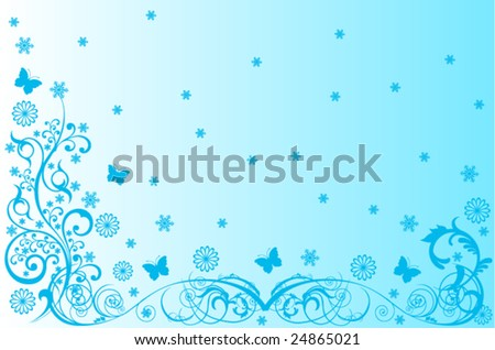 Vector blue swirl - stock vector