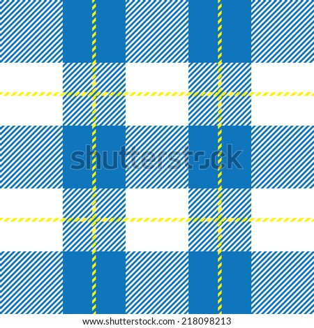 vector blue tartan plaid for background