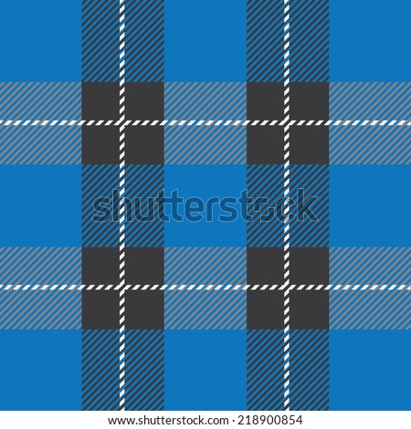 vector blue  tartan plaid  pattern for background