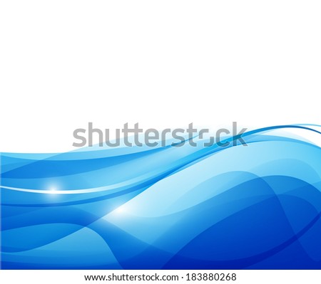 vector blue wavy background