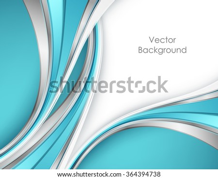 Vector blue wavy background. Corporate design. Eps10 - stock vector