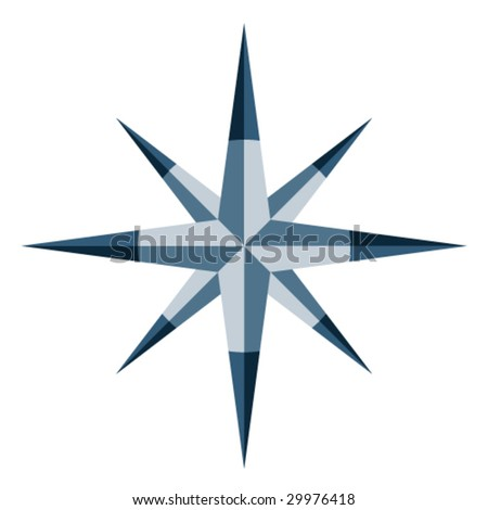 Vector blue windrose