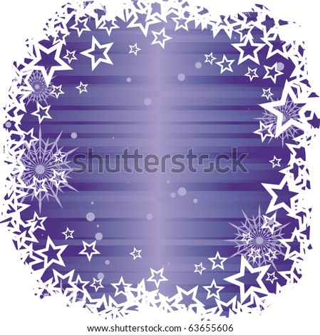 vector blue winter background with star border