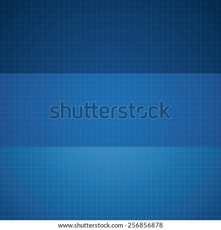 Vector blueprint backgrounds. Empty blueprint with place for your content. Three basic colors. - stock vector
