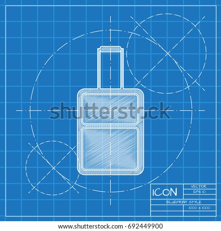 Vector blueprint retro floppy disk icon stock vector 316963169 vector blueprint case icon on engineer and architect background business collection malvernweather Images