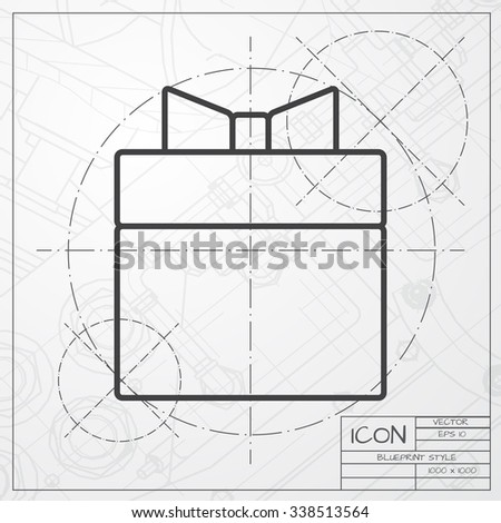 Vector classic blueprint pet food dish vectores en stock 321271574 vector blueprint of gift box icon on engineer or architect background malvernweather Gallery